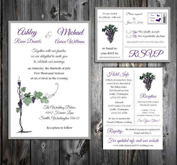 Wine Rustic Vineyard  100 Wedding by creatingapapermemory on Etsy