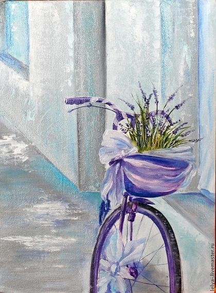 Картина маслом Лаванда - картина,картина в гостиную,картина в подарок