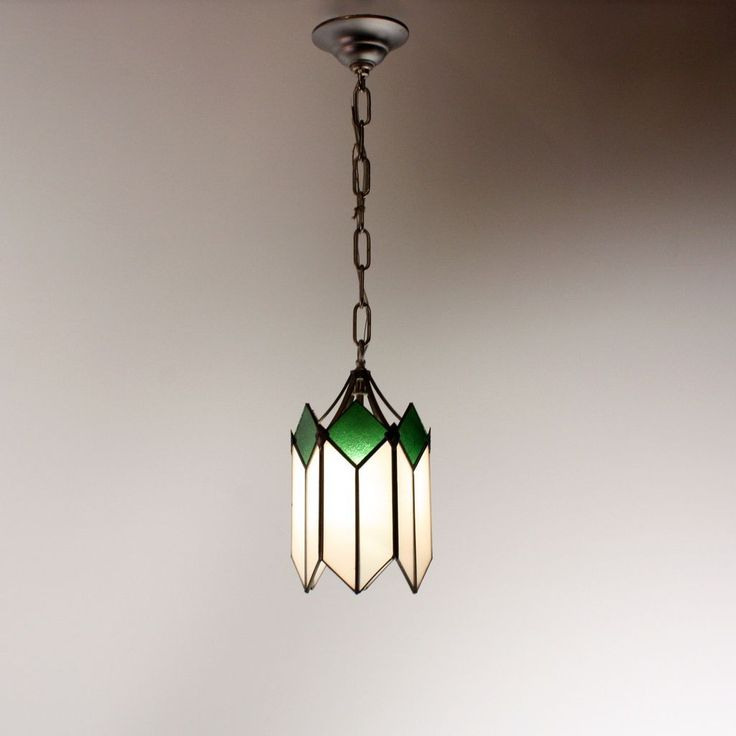 Powder Room Light Marvelous Art Deco Pendant With Original Stained Glass From Preservationstation On