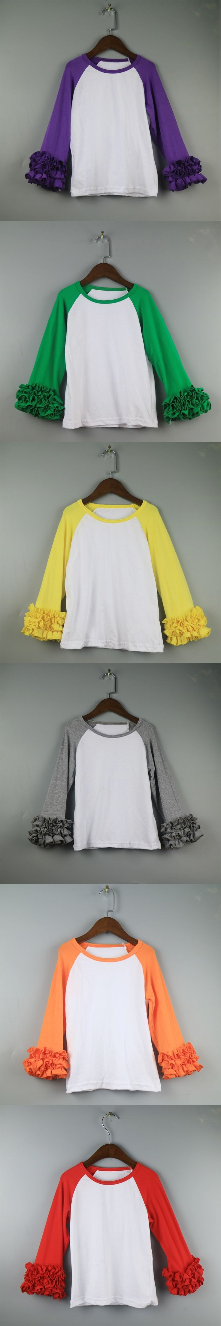 Easter Day's shirts Rabit tunic icing t shirts for girls  wholesale baseball girl yellow ruffle t-shirts for children