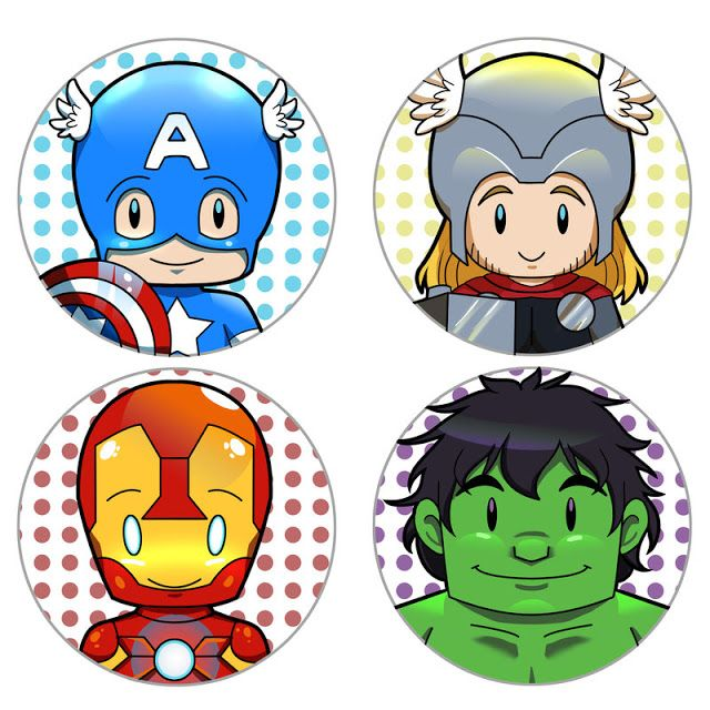 Vengadores Bebés: Etiquetas o Toppers para Cupcakes para Imprimir Gratis. …