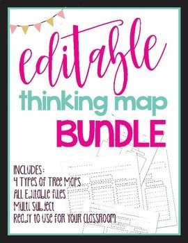This editable Tree Map bundle offers varied versions of Tree Maps that allow for teachers to differentiate learning to meet all students' needs and can be used across all primary grade levels. The editable function allows continued usage of these Tree Maps throughout the year