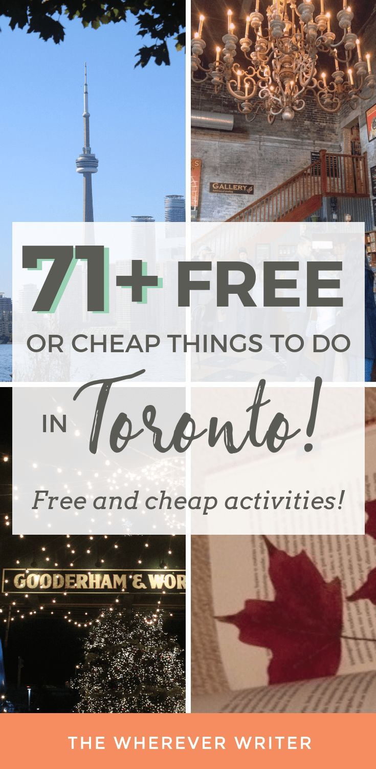74 Free or Cheap Things to Do in Toronto
