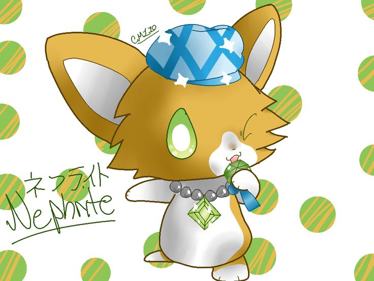 Jewelpet nephrite by on deviantart hello kitty and other sanrio - Jewelpet prase ...