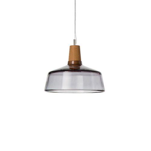 1LT Glass Retro Pendant Light 1.5M Cord Ceiling Lamp Bedroom Living Room Lights