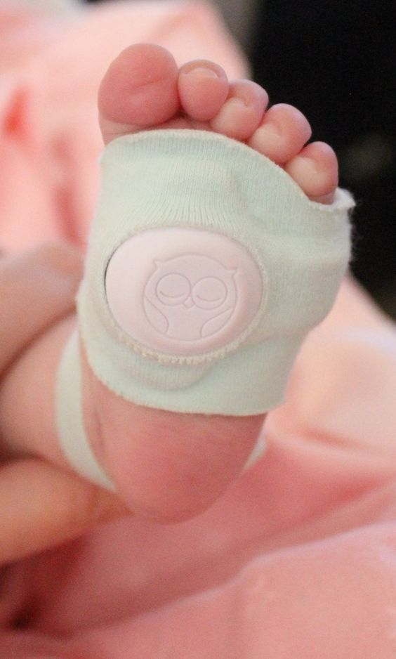 Ingenious!  Owlet HeartRate/oxygen monitor. Would have been so much better than the machine, wrap sensors, and cords we had to use with Evie