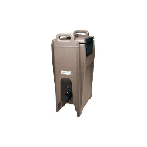 Cambro UC500-194 Ultra Camtainer Polyethylene Insulated Beverage Carrier Cart, 5-1/4-Gallon, Granite Sand by food service warehouse. $186.67. Beverage carrier cart have a contemporary line perfect for off premise catering and banquets. Drip-proof recessed spigot for easy self-serve access and stack units on riser to fill large cups or coffee pots. Constructed with seamless double-wall polyethylene material with thick foam insulation. Camtainer features wide nylon latch...