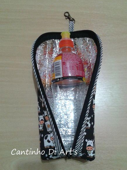porta garrafa, revestida com material isolante térmico