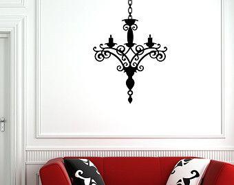 Kroonluchter muur sticker Vinyl Sticker Decals Art door DecalHouse