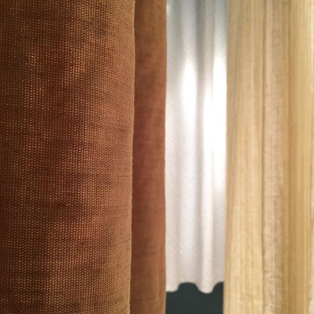Luscious layers. A little glimpse of the curtains we will be showing at SFF 2017.