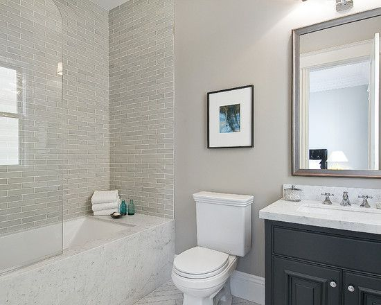 Traditional bathroom design nice tile in the shower - Bathroom paint colors with gray tile ...