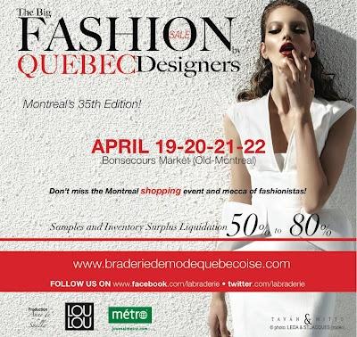 Braderie de Québec! 27-28-29 avril!