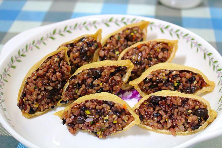 현미잡곡밥으로 만든유부초밥