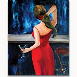 My Glass of Martini Size: 30 x 24 x 2 in. Medium used: Oil