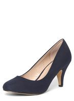 Womens Wide Fit Navy 'Wilamina' Court- Blue