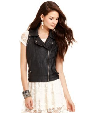 Chord Juniors Jacket, Faux-Leather Moto Vest $52.99