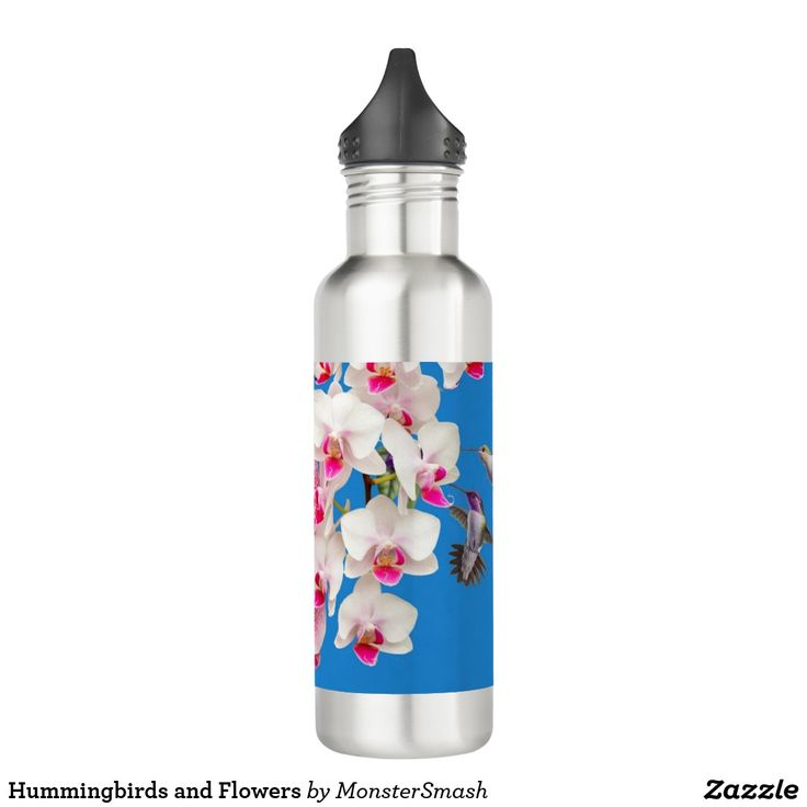 Hummingbirds and Flowers 710 Ml Water Bottle