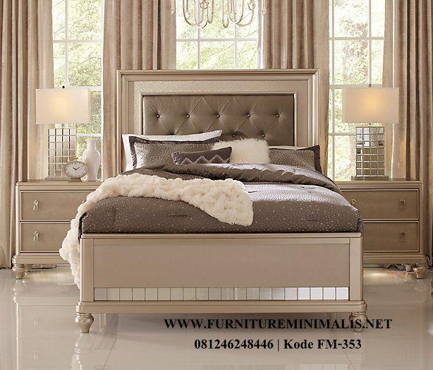 Kamar Tidur Murah Silver Elegant Mewah Terbaru   Tempat Tidur - Furniture Minimalis Jepara