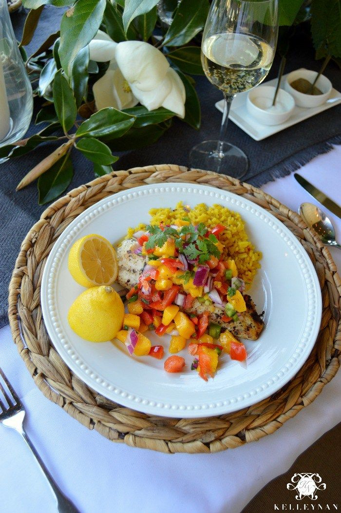 progressive dinner grilled tilapia with mango salsa grilled tilapia ...