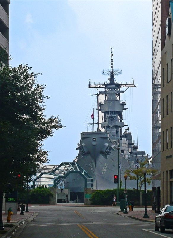 Street View Of Uss Wisconsin Battleship Norfolk Virginia Favorite Places In 2018 Pinterest And