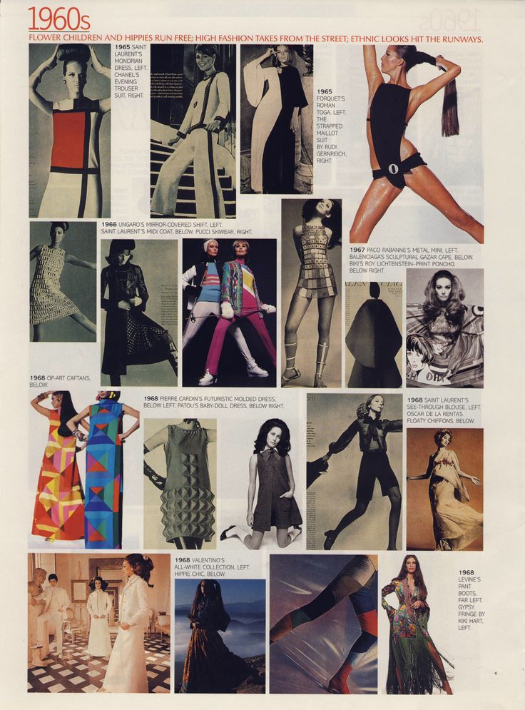"""What we wore"" 1960s II.  Scanned from a late 90s American Vogue."