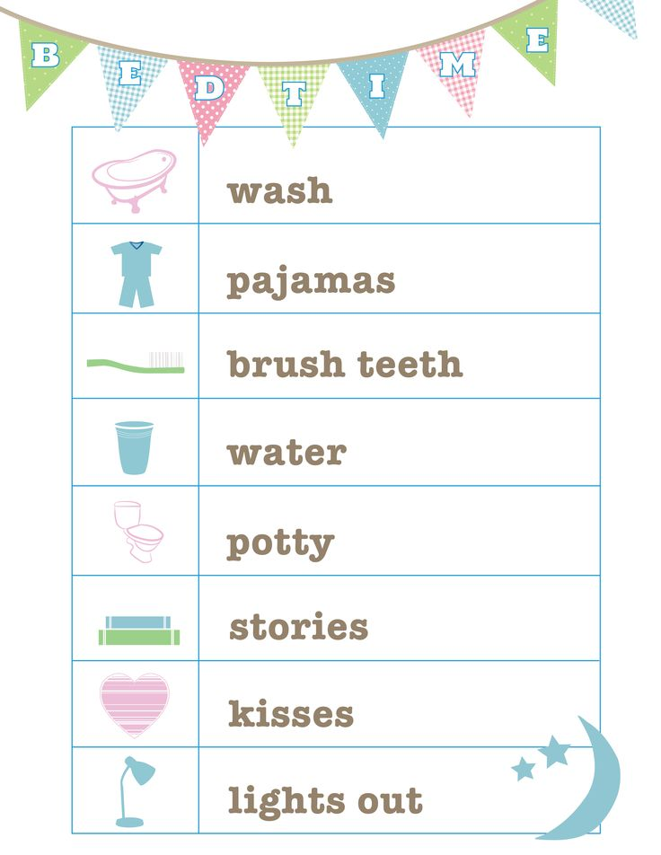 FREE Bedtime Routine printable from Love and Life Cards                                                                                                                                                                                 More