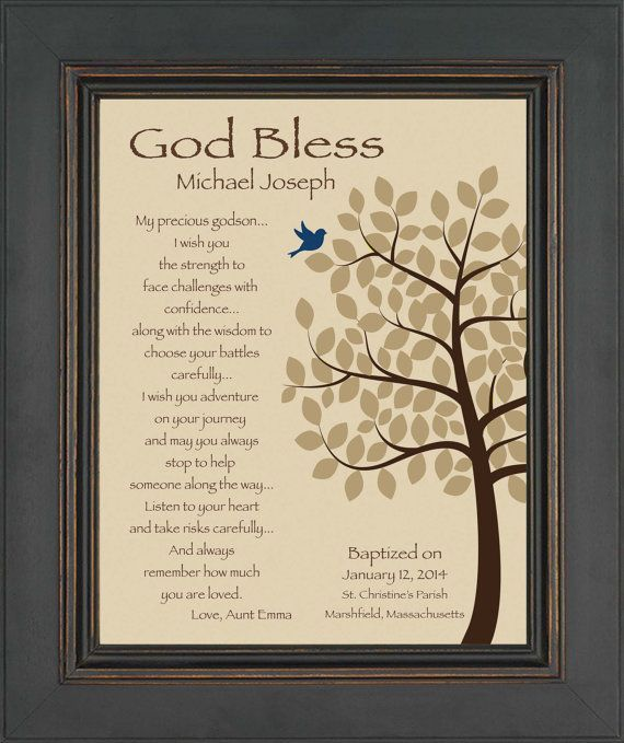 GODSON personalized gift Gift for Baptism by KreationsbyMarilyn, $15.00