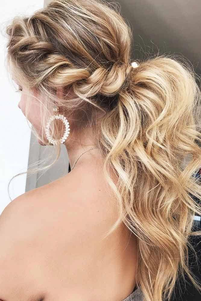 Braided Prom Ponytail Braidedhairstyles Medium Hair Styles Braided Prom Hair Hair Styles