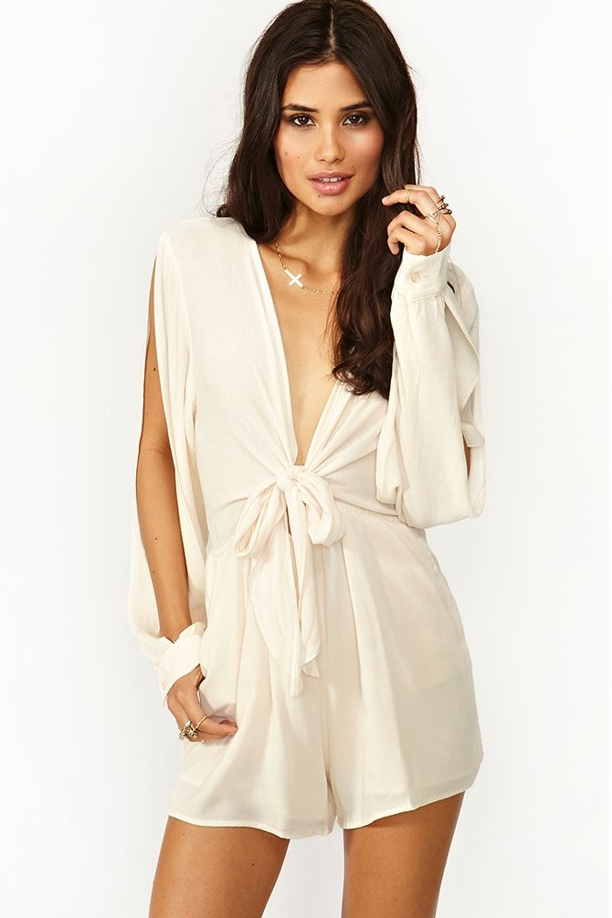 Buckets Of Rain Romper - Ivory - ok someone tell me that I need to spend $100 on a romper
