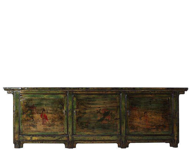 Antiek Chinees dressoir 269 cm
