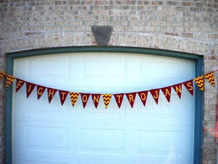 School Banner USC Trojans by piecesofsue on Etsy