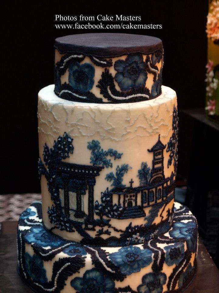 Asian inspired wedding or celebration cake