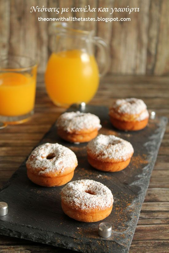 Cinnamon yogurt donuts