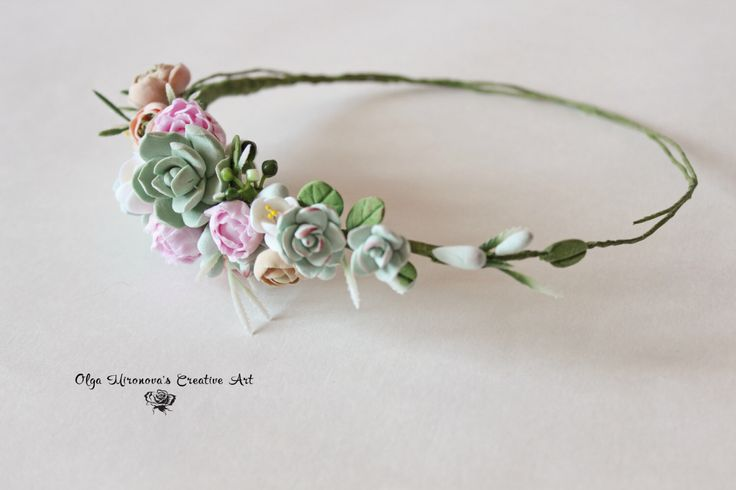 Wedding succulent ranunculus headband Bridal head wreath with succulents and flowers boho untailored floral crown Wedding floral tiara by CoolClayFlowers on Etsy https://www.etsy.com/listing/229610824/wedding-succulent-ranunculus-headband