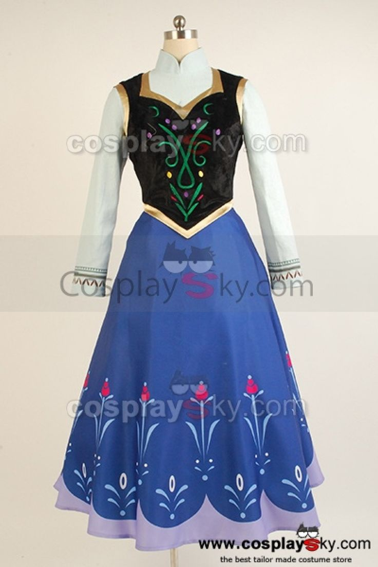 anna frozen vest | 2013 Disney Film Frozen Princess Anna Cosplay Costume ---- Frozen ...