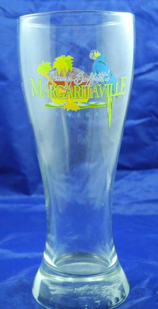Jimmy Buffett Margaritaville Las Vegas NV Pilsner Beer Glass Parrothead Palm #Margaritaville