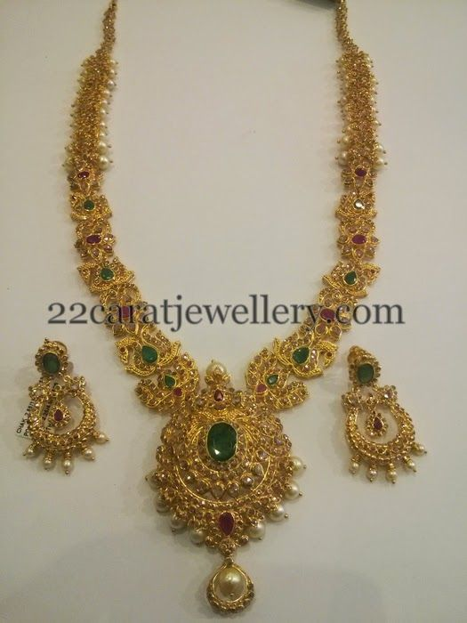 Jewellery Designs: Chakri Diamonds Set with Chandbalis