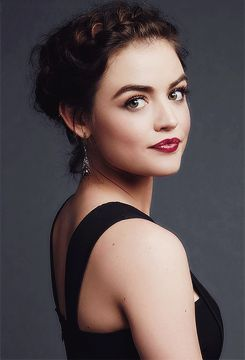 Lucy Hale in the photo booth backstage at People's Choice Awards 2016