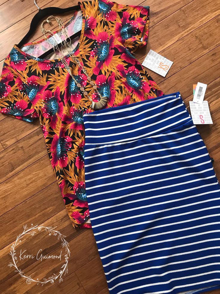 Over 150 LuLaRoe Outfit ideas posted! With bold pattern mixing, classic Tees, and stripes cassie pencil skirts! Come check them out! facebook.com/groups/1380641358911229