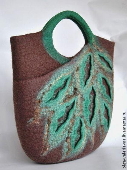 Сумка Листья. - бежевый,сумка,сумка женская,сумка ручной работы,сумка с декором