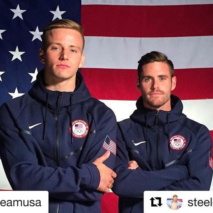 08.07.16 USA divers Steele Johnson and David Boudia are ready to compete in duo 10M platform tomorrow. #Rio2016
