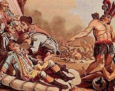 Louis Joseph de Montcalm-Gozon, marquis de Saint-Véran, dit de Montcalm (1712-1759), commandait l'armée française en 1759. Il perdit la vie lors de la bataille des Plaines d'Abraham.