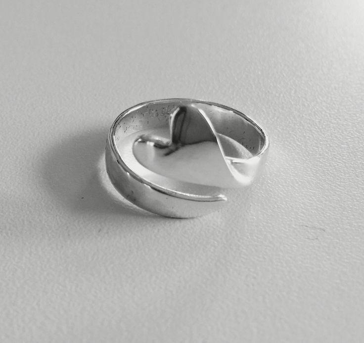 Sterling Silver Heart ring custom made by ÅJ