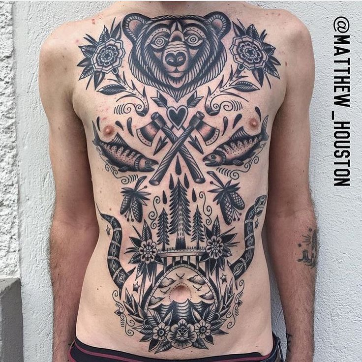 OLDLINES — #tattoo by @matthew_houston  #tattoos #tattooart...