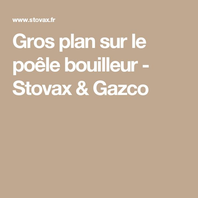 Gros plan sur le poêle bouilleur - Stovax & Gazco