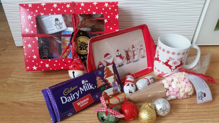 Christmas chocolate hamper Snowman soup treat boxes Chocolates Christmas Eve boxes by CreativeOccasionsuk on Etsy