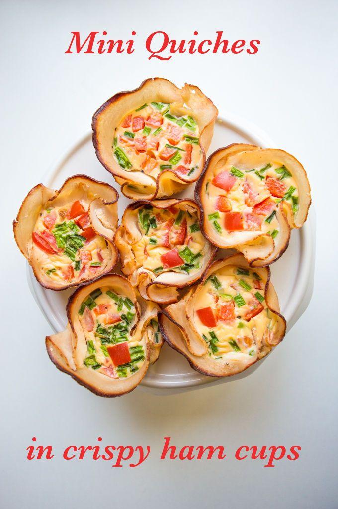 Mini Quiches in Crispy Ham Cups (gluten free, lactose free) - My Gut Feeling