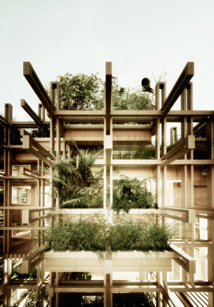 this is an amazing design concept; 'the Gardenhouse' ...  Roof Terrace