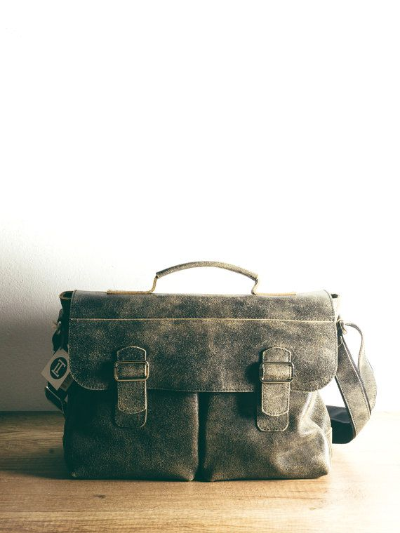 Natural leather weekend bag. Sturdy pure leather! Mens messenger bag. Man bag Mens leather messenger bag for man. Brief-bag for men