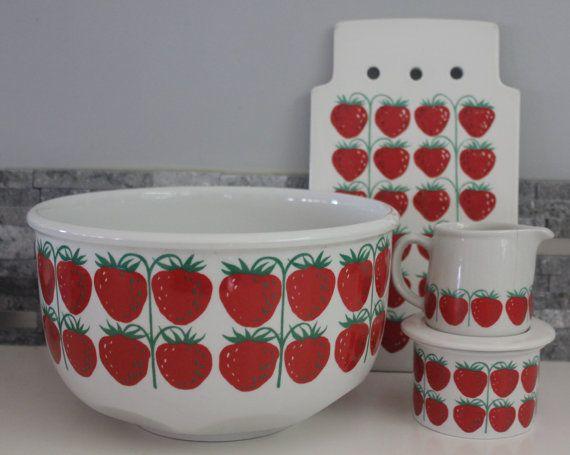 I see strawberries everywhere  Arabia Pomona by FinnishTreasures